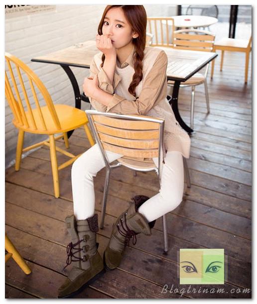 Hay mặc áo len trong một set đồ gồm những gam màu trang nhã cũng là cách chinh phục phong cách cổ điển đầy thuyết phục