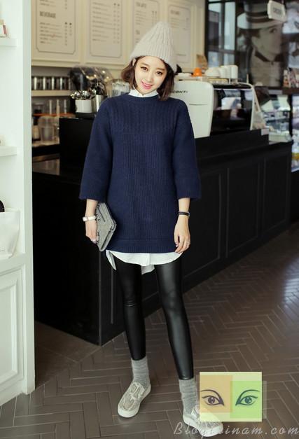 Mix đồ tuyệt đẹp cho mùa đông với legging