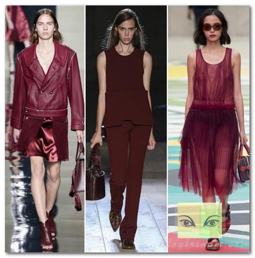 Màu marsala xuất hiện tràn ngập trên sàn diễn thời trang thu đông, xuân hè 2015