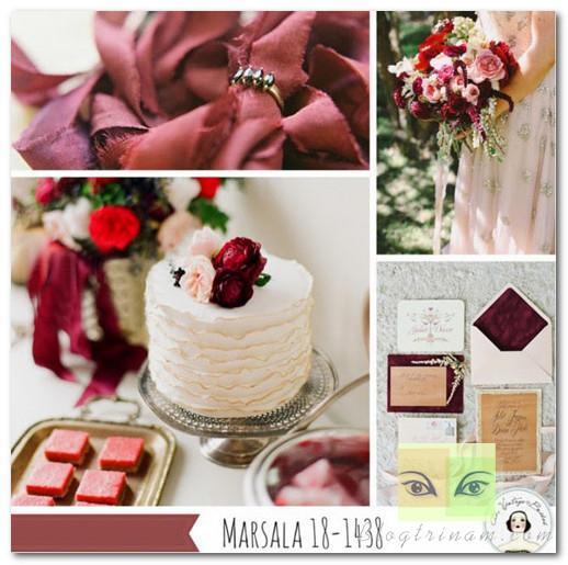 Sử dụng màu marsala để trang trí tiệc cưới rất sang và thanh lịch