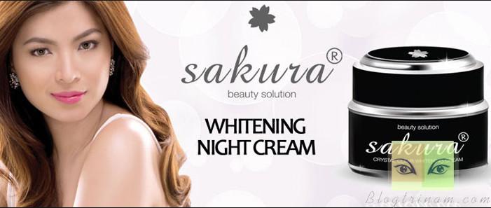 Kem trị nám Sakura Whitening Night Cream Nhật Bản