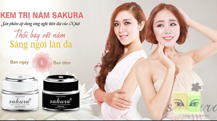 Kem trị nám Sakura tận gốc cho vẻ đẹp khác biệt