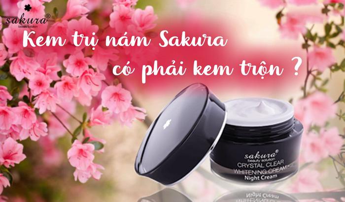 Cách dùng kem trị nám Sakura hiệu quả cho chị em